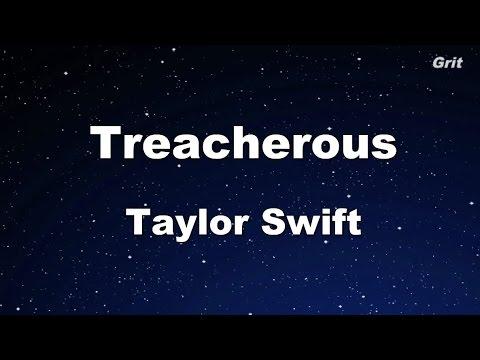 treacherous---taylor-swift-karaoke【no-guide-melody】