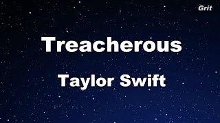 Treacherous - Taylor Swift Karaoke【No Guide Melody】
