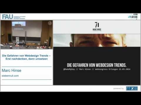 Die Gefahren von Webdesign Trends - Talk auf dem Webkongress Erlangen 2014