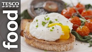 how to poach an egg   tesco food