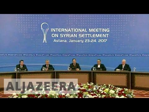 Astana talks: Russia, Iran, Turkey 'to enforce Syria truce'