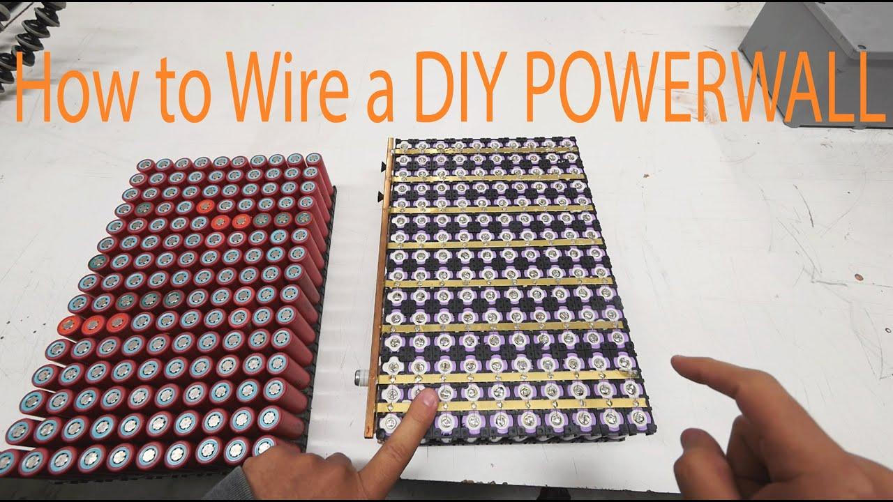 how to wire a diy tesla 18650 powerwall [ 1280 x 720 Pixel ]
