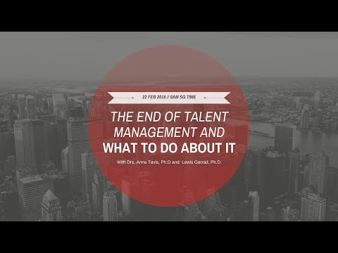 STADA Webinar: The End of Talent Management and What to Do About It