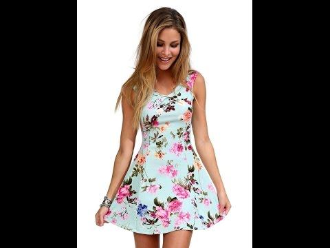 Трогательные летние короткие платья