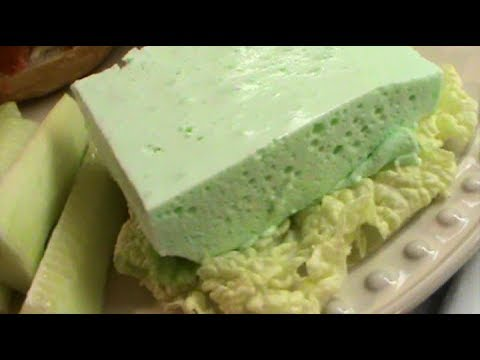 Forgotten Dessert Of The 1950's - Lime Jello Dessert