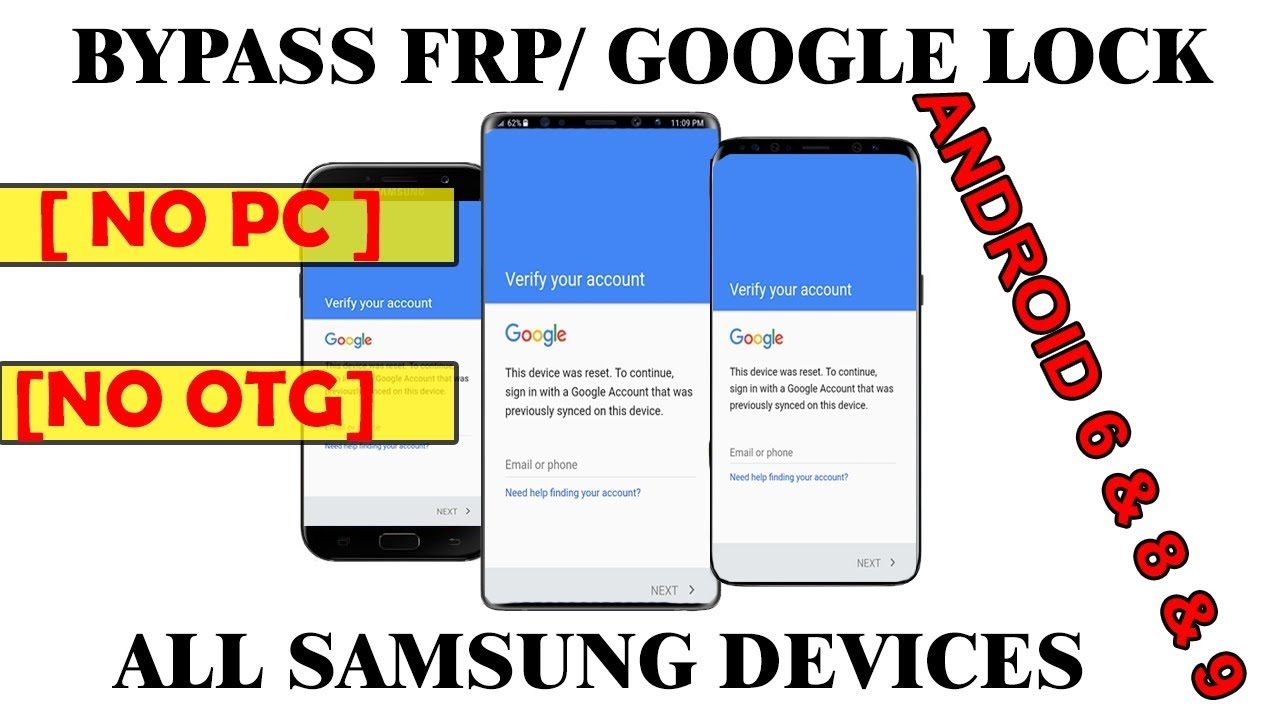 Bypass/Remove Google Lock on Samsung Galaxy A9 (2018) (SM