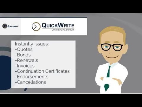 QuickWrite Broker Tool for Commercial Surety Bonds