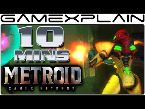10 Minutes of Metroid: Samus Returns Gameplay (Direct Feed 3DS)