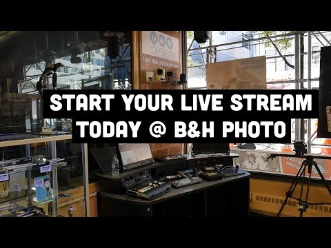 B&H Photo Live Streaming Equipment Area In The NYC Store!