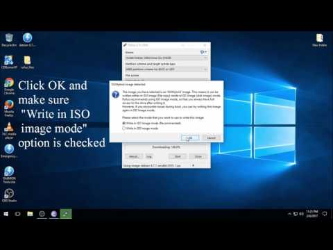 Downloading and making a Debian bootable USB(On Windows 10 using Rufus )