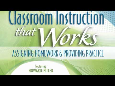 McREL - Classroom Instruction That Works (2nd Ed.) Assigning Homework & Providing Practice