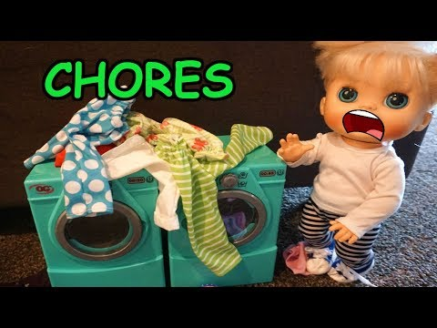 BABY ALIVE Audrey's Chores Pile Up!