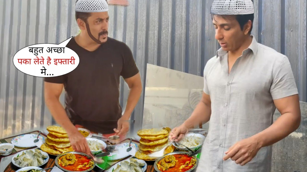 Sonu Sood and Salman Khan Making Dishes for Iftar Party in Ramadan 2021, Both are Down to Erath