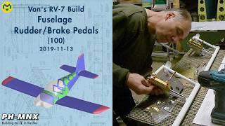 Van's RV-7 Build Fuselage Rudder/Brake Pedals (100)