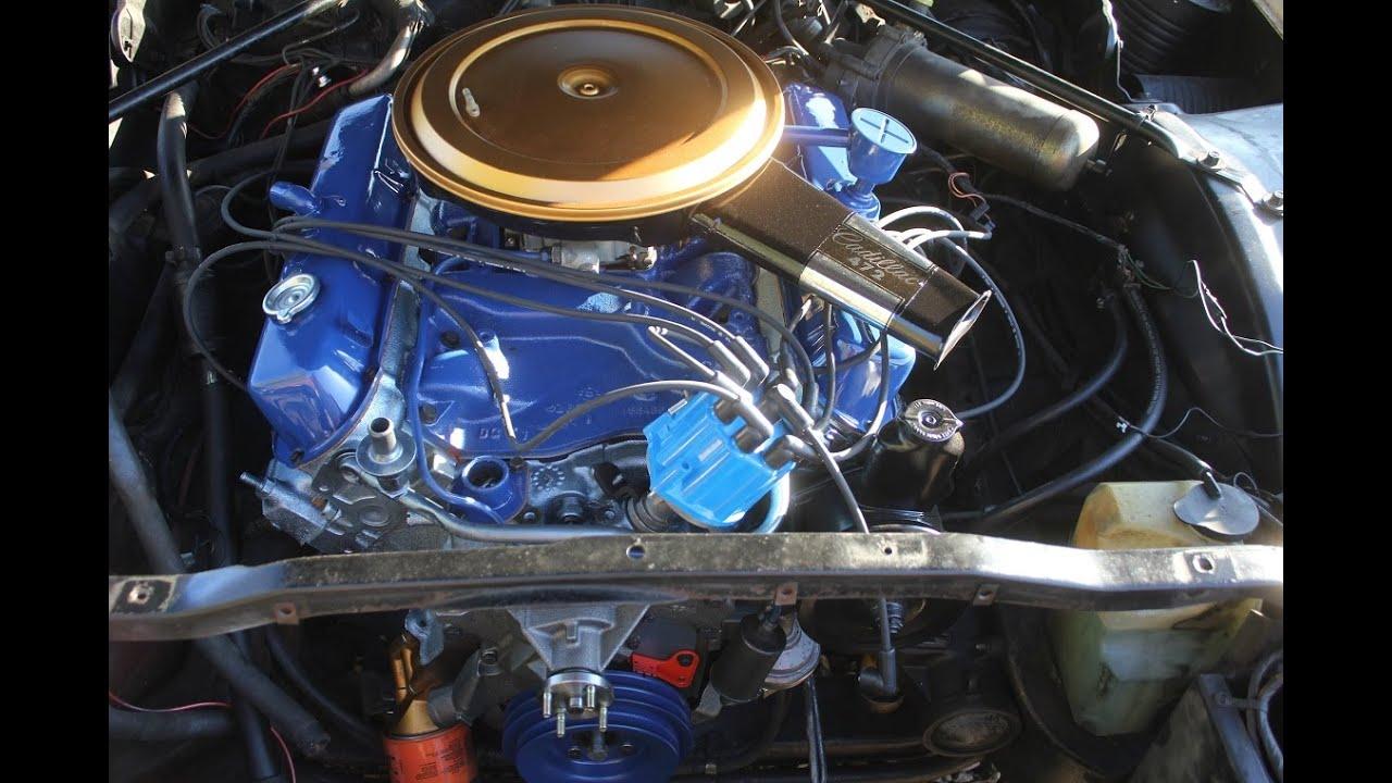 1968 cadillac eldorado start up 472 engine after build carburetor brake boster hose off  [ 1280 x 720 Pixel ]