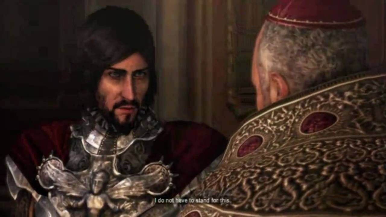 Cesare Borgia Kills Rodrigo Borgia Assassin S Creed Brotherhood