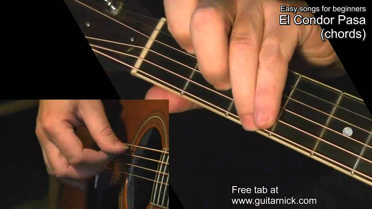 El Condor Pasa Chords Guitar Lesson By Guitarnick Youtube