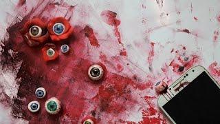 DIY: bloody EYEBALL phone dust plug - blutiger Augapfel - [eng sub] 2017 Video