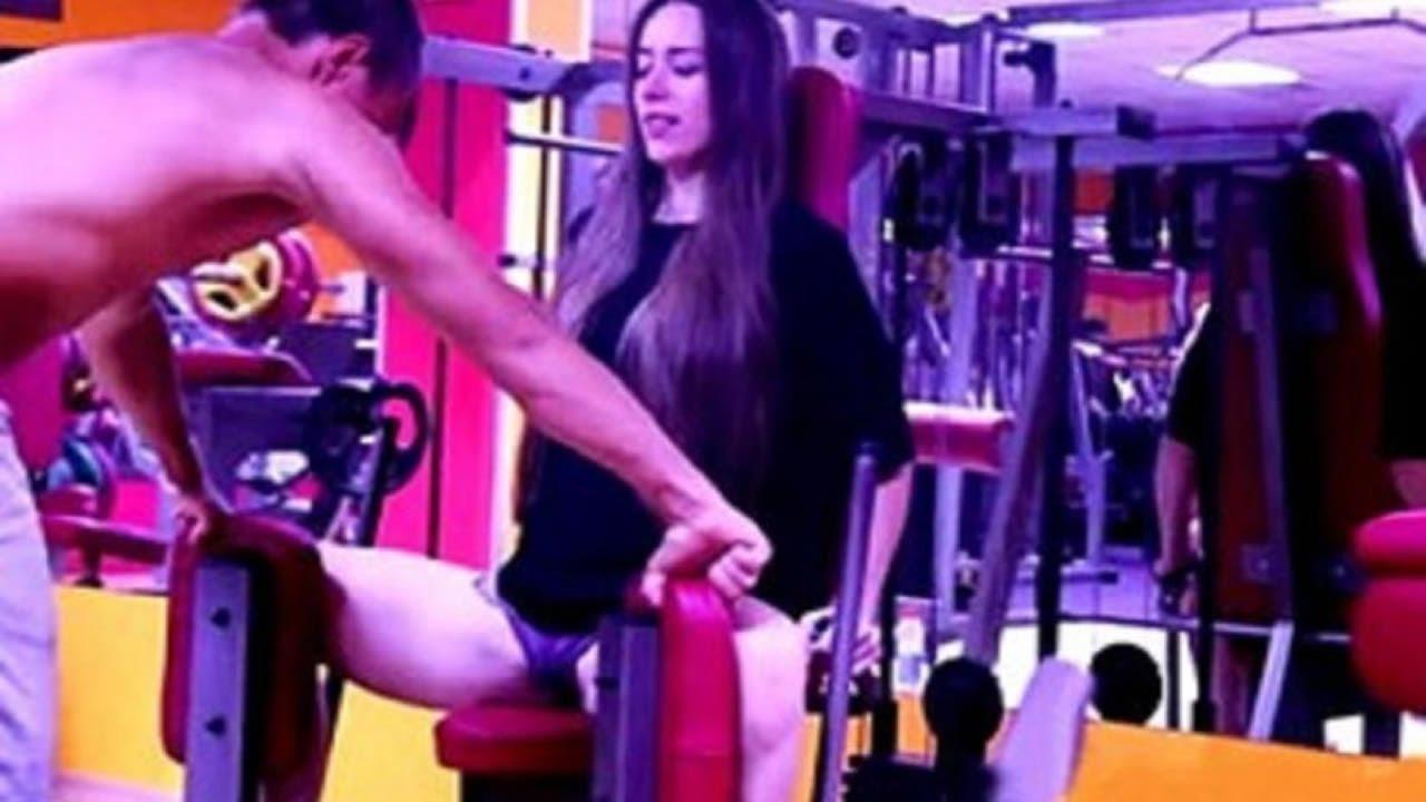 Por esta razón nunca debes dejar ir a tu novia sola al gym, mira lo que le hace el instructor