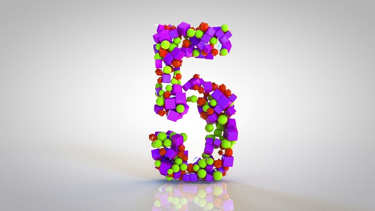 How to Animate Numbers | Dynamics Transition Between Numbers Countdown |  Cinema 4D Tutorial