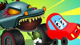 Download Monster Island | Little Red Car Cartoons | Halloween Videos for Children by Kids Channel Mp3 and Videos