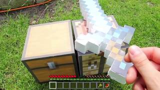 Realistic Minecraft in Real Life - IRL Animation - Top 5 Best Epizode - Crafting Fiamond sword