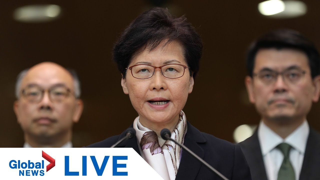 Hong Kong Chief Executive Carrie Lam expected to make statement    LIVE