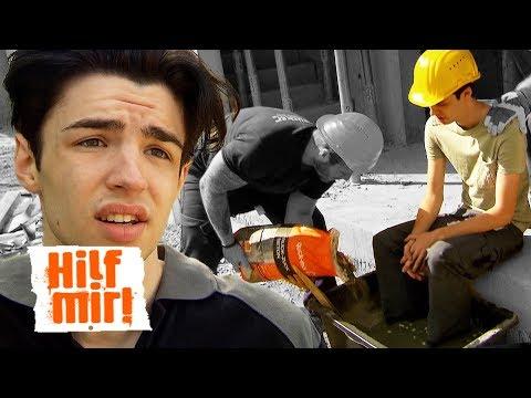 Mobbing auf dem Bau: Füße in Zement einbetoniert! | Hilf Mir!