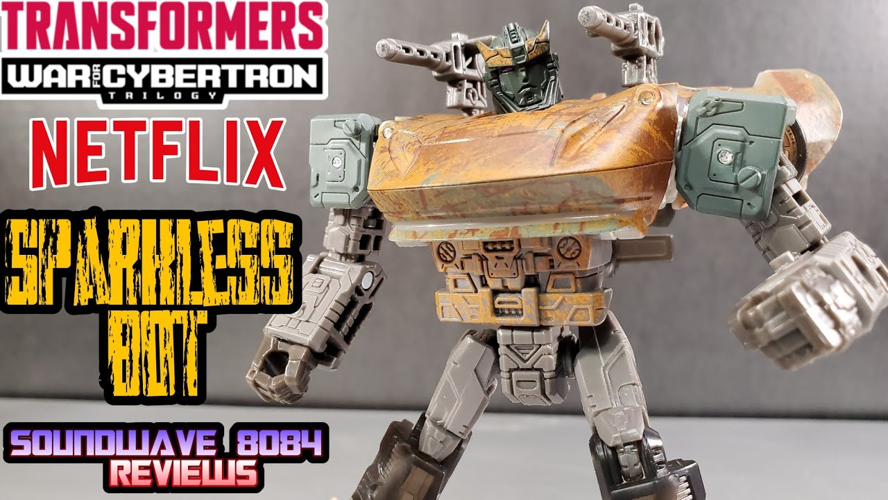 Transformers WFC Netflix Decepticon Sparkless Bot Review by Soundwave 8084
