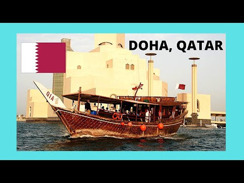 QATAR,  getting inside a TRADITIONAL QATARI BOAT in DOHA