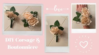 Easy DIY Corsage & Boutonnière! F๐r Prom, Homecoming, or Wedding!