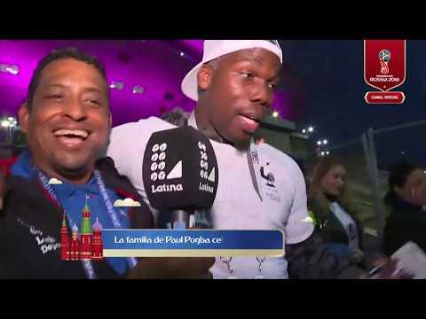 La familia de Paul Pogba celebra pase de Francia a la final