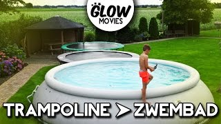 TRAMPOLINE TRICKS IN ZWEMBAD - GLOWMOVIES