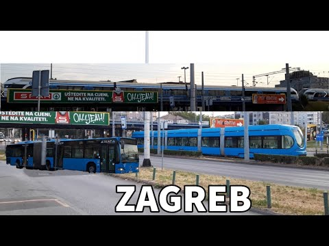 Zagreb Public Transport (Trams, Buses and Trains)