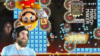 Super Meat Bros. on Ice | Slippery Sawblades - Super Mario Maker
