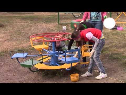Дет площадка в Красной Поляне Вятскополянского района преобразилась