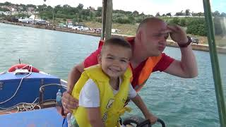 Dima Kids TV! The Man Lost his Boat FUNNY BABY Ride on POWER WHEEL Tractor Excavator for help