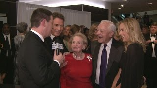 Bob Schieffer Hits Red Carpet With Two Madam Secretaries