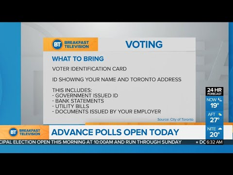 Advance polls open in the Toronto municipal election, and other top stories