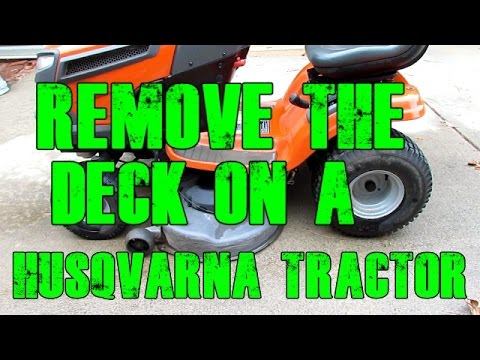 Remove / Replace the Mower Deck and Replace the Deck Belt on a ...