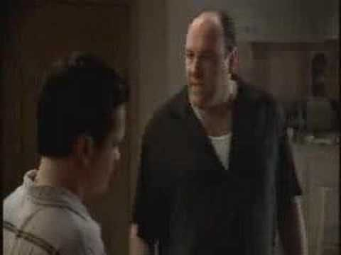 The Sopranos - A.J. gets his eye brows shaved off