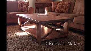 CReeves Makes Rustic Farmhouse Coffee Table ep017