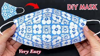 Very Easy Beautiful 3D Mask Diy Breathable Face Mask Easy Pattern Sewing Tutorial How to Make Mask