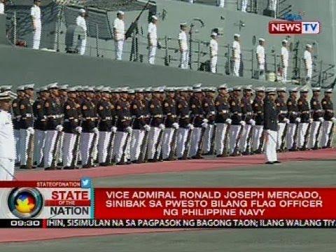 Vice Admiral Ronald Joseph Mercado, sinibak sa pwesto bilang flag officer ng Philippine Navy