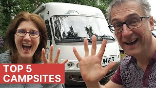 Our Top 5 Campsites