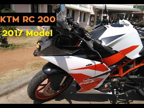 ktm rc 200 2017 latest model review walk around | my friend's