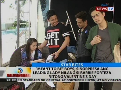 """BT: """"Meant To Be"""" boys, sinorpresa ang leading lady nilang si Barbie Forteza nitong Valentine's day"""