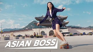 Learning to Longboard Dance with Viral Skater Sensation Hyojoo | ASIAN BOSS