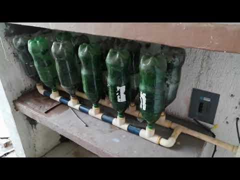 Como hacer un hidroneumatico con botellas recicladas.