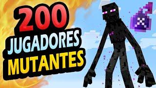 👉 Metí 200 Jugadores Contra MUTANTES!!! - Reto Minecraft